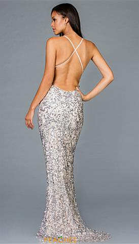 d5691eac Quickview. Ice Pink/Silver; Almond; Antique; Forest Green; Ice Pink; Ivory;  Ivory/Silver. Open Back Scala Prom Dress ...