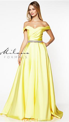 84120b38ce48 Yellow; Blush; Yellow. Milano Formals Dress E2778 $198 Quickview. Milano  Formals E2781