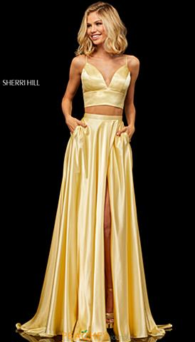1f57d3a0fc Sherri Hill 52488. Quickview. Yellow  Ruby  Ruby  Yellow. Sherri Hill Dress  ...