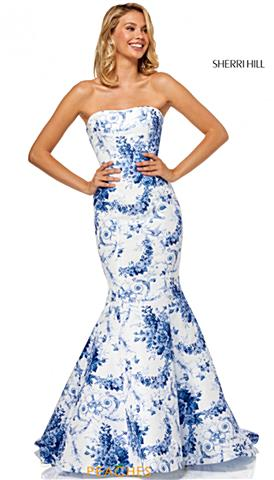 b6cea9acaf3 Sherri Hill 52618. Quickview. Ivory Blue ...