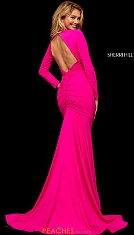 fa08e58721a Sherri Hill 52788. Quickview. Fuchsia  Black  Black  Fuchsia  Purple  Purple.  Sherri Hill Dress ...