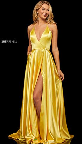 4468303907f Yellow Prom Dresses