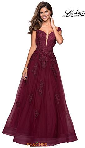 91d4312c9165 La Femme Prom Dresses | Peaches Boutique