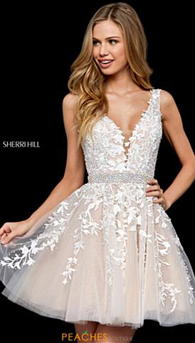 4e9dd0b0a3c4 Sherri Hill Short Prom Dresses | Peaches Boutique