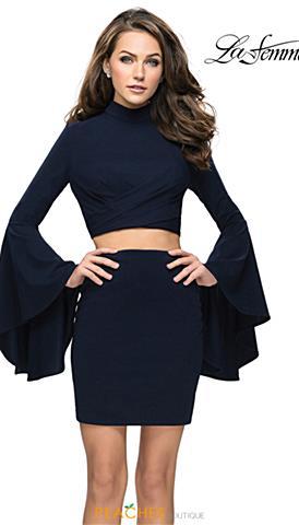 816c01a1 La Femme Short Prom Dresses | Peaches Boutique