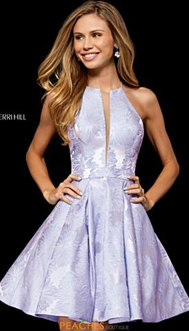 4e0cb646907 Sherri Hill Short 52178. Quickview. Lilac  Black  Ivory  Light Blue ...
