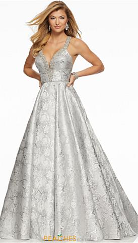 Silver Sequin Prom Dress