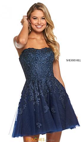 5d525b1d7c5 Fitted Halter Homecoming Dress $298 Quickview. Sherri Hill Short 53099