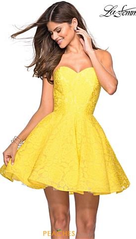 9346adae7d4a La Femme Short Prom Dresses | Peaches Boutique
